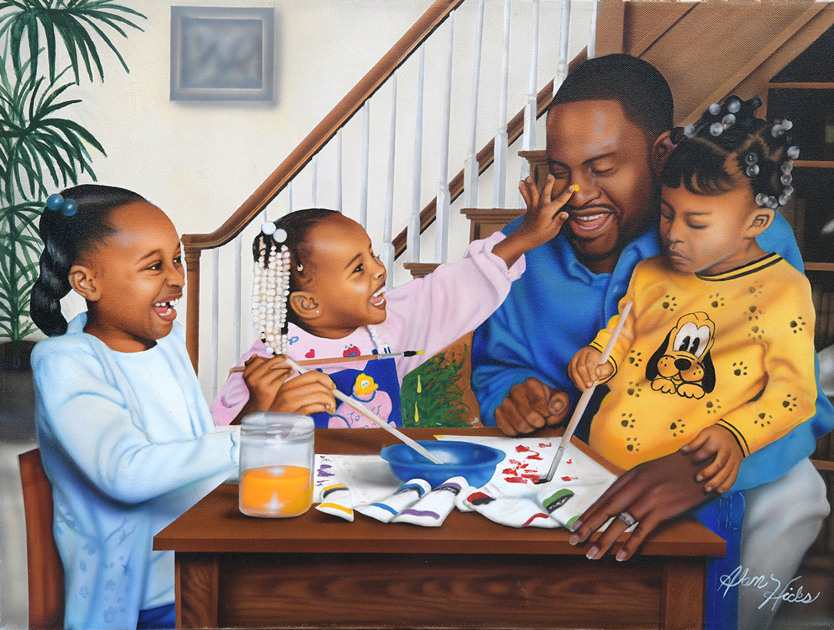 Daddy's Little Girls African American Jigsaw Puzzle