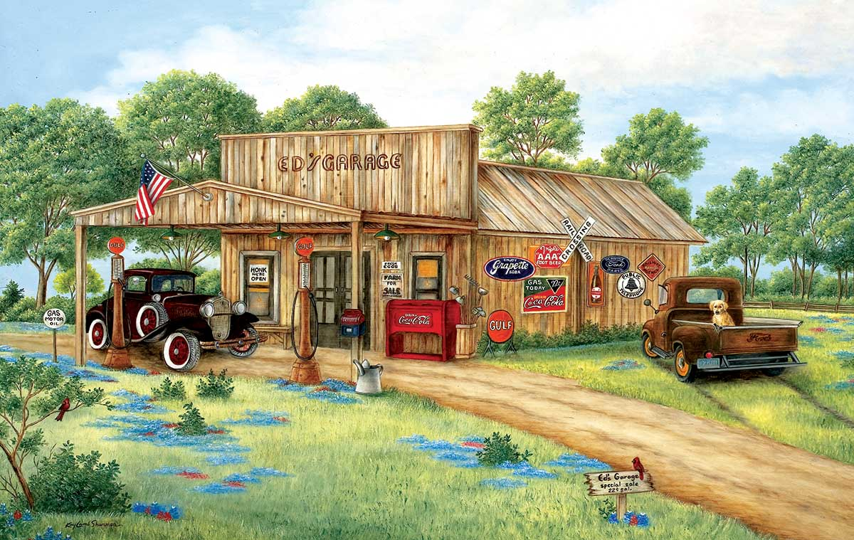 Ed's Garage Cars Jigsaw Puzzle