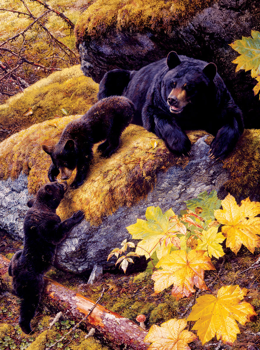 Nosing Around Bears Jigsaw Puzzle