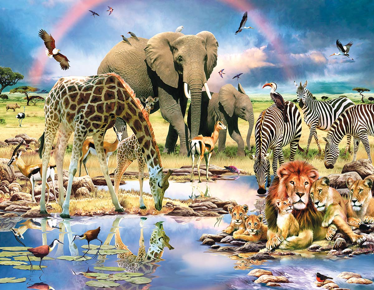 Cradle of Life Wildlife Jigsaw Puzzle