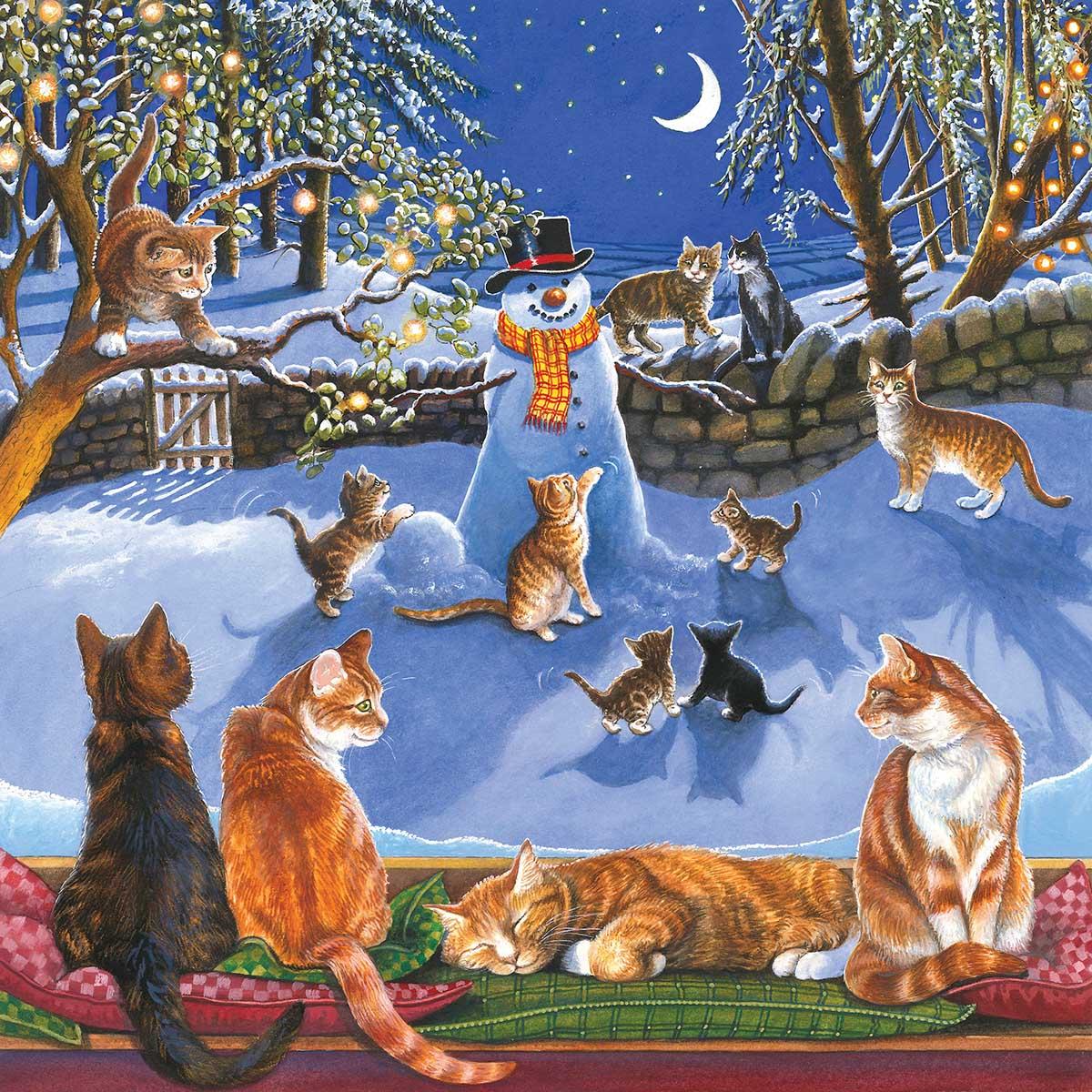 On the Windowsill Cats Jigsaw Puzzle