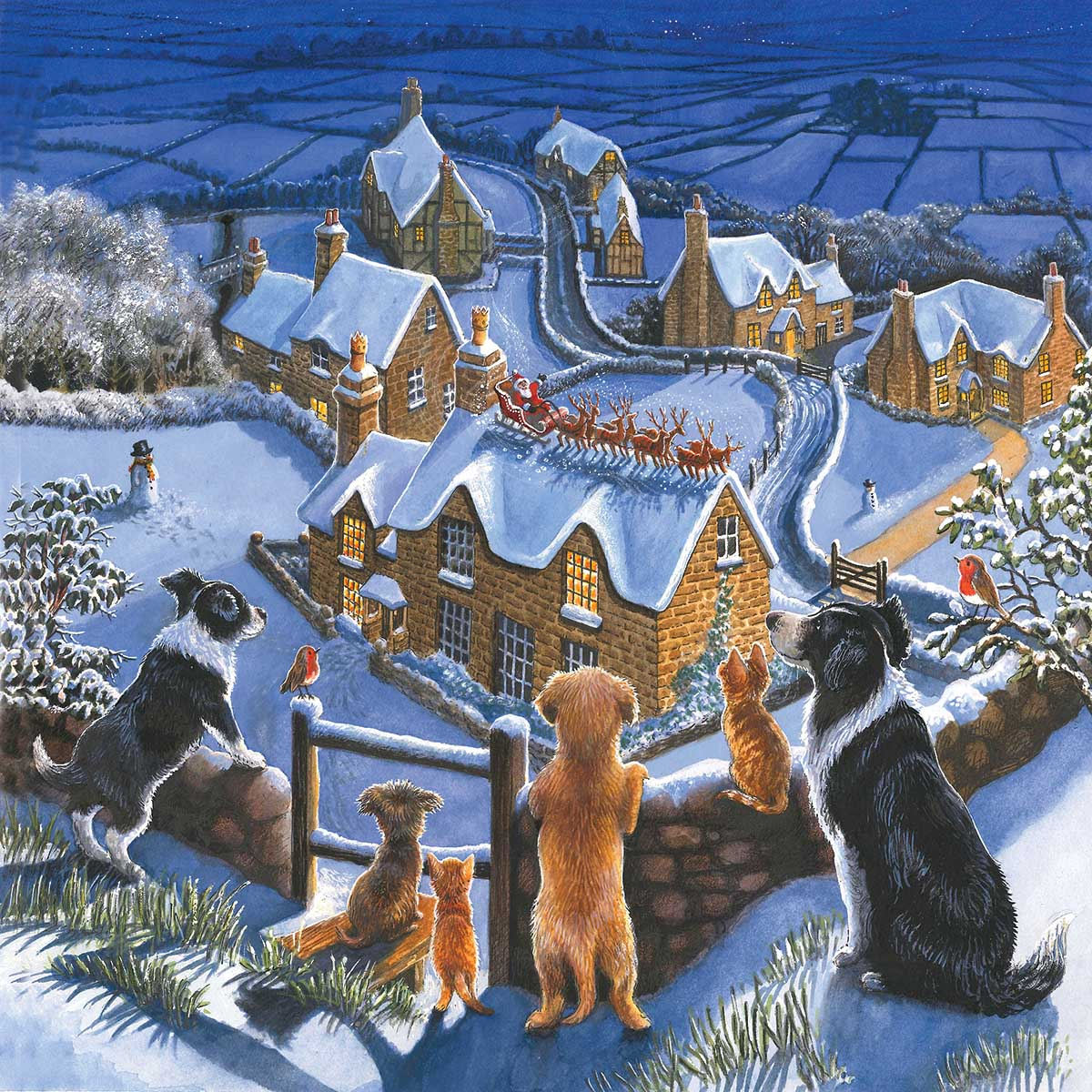 A Special View of Santa Dogs Jigsaw Puzzle