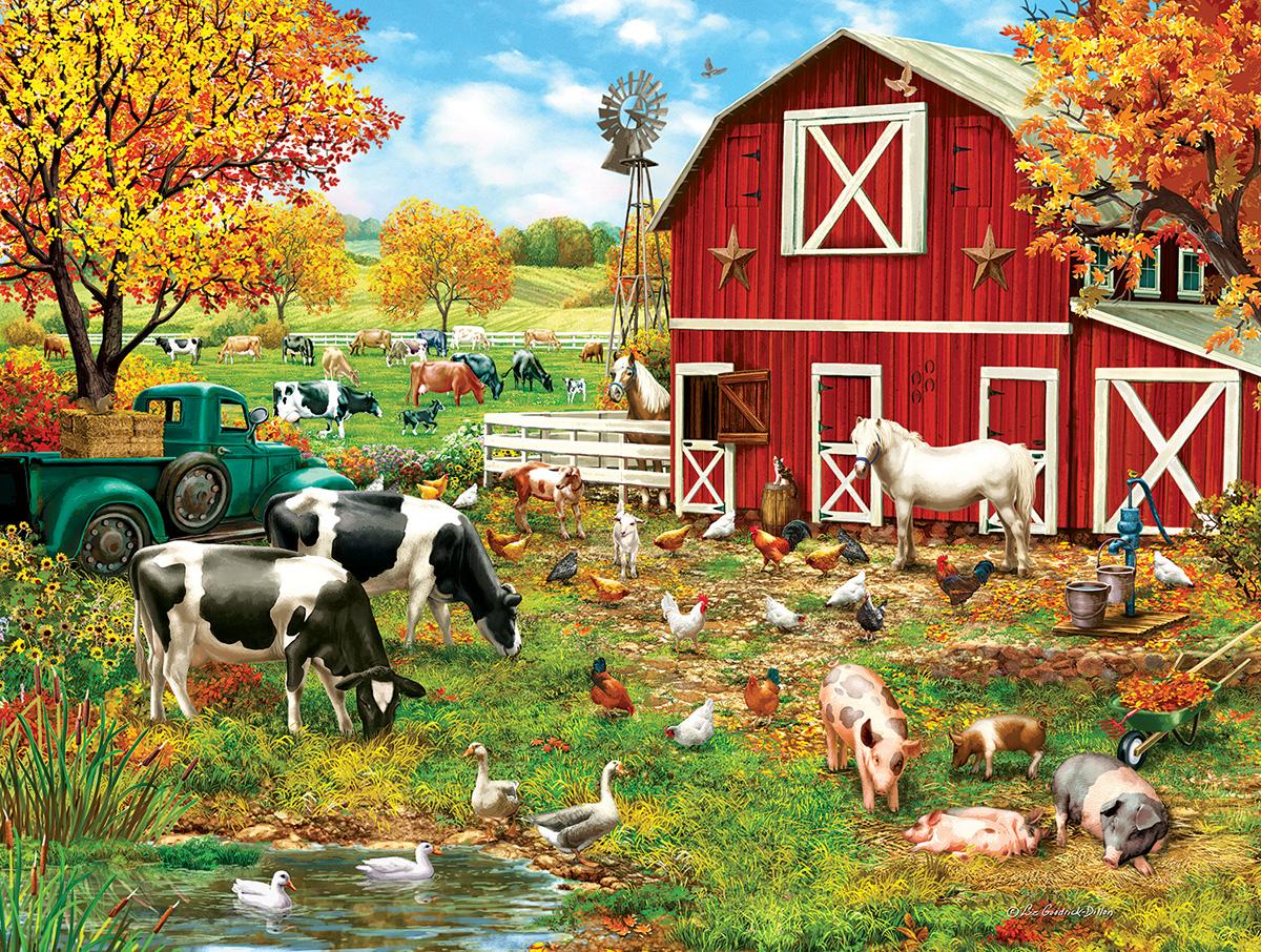 A Day on the Farm Farm Jigsaw Puzzle