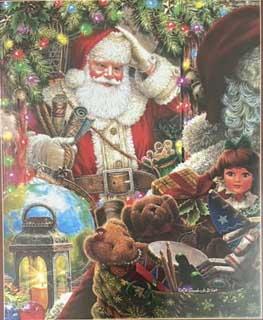 Ready to Go Santa Santa Jigsaw Puzzle