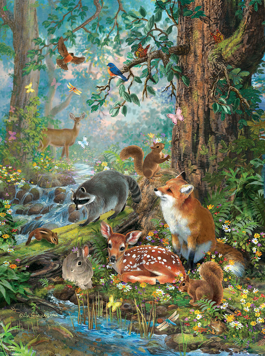 Out in the Forest - Scratch and Dent Animals Jigsaw Puzzle