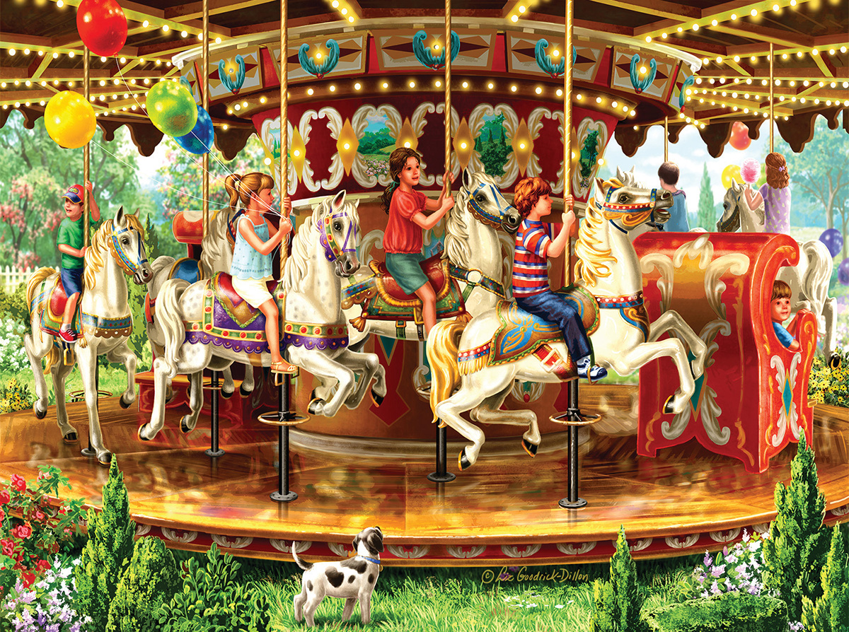 Carousel Ride Carnival Jigsaw Puzzle