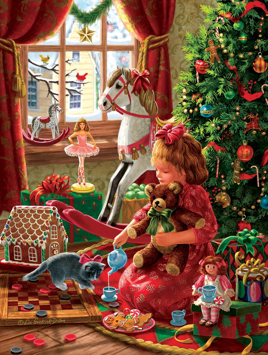 Young Girl's Christmas Christmas Jigsaw Puzzle