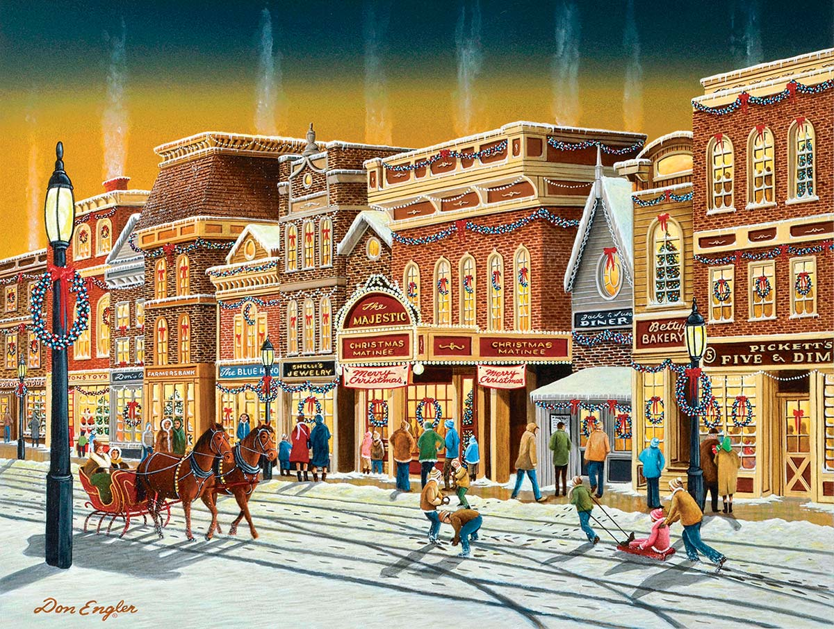 Hometown Weekend Street Scene Jigsaw Puzzle