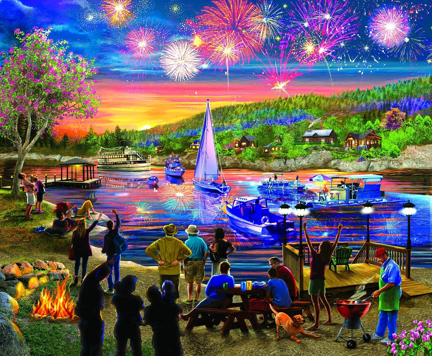Fireworks Fourth of July Jigsaw Puzzle