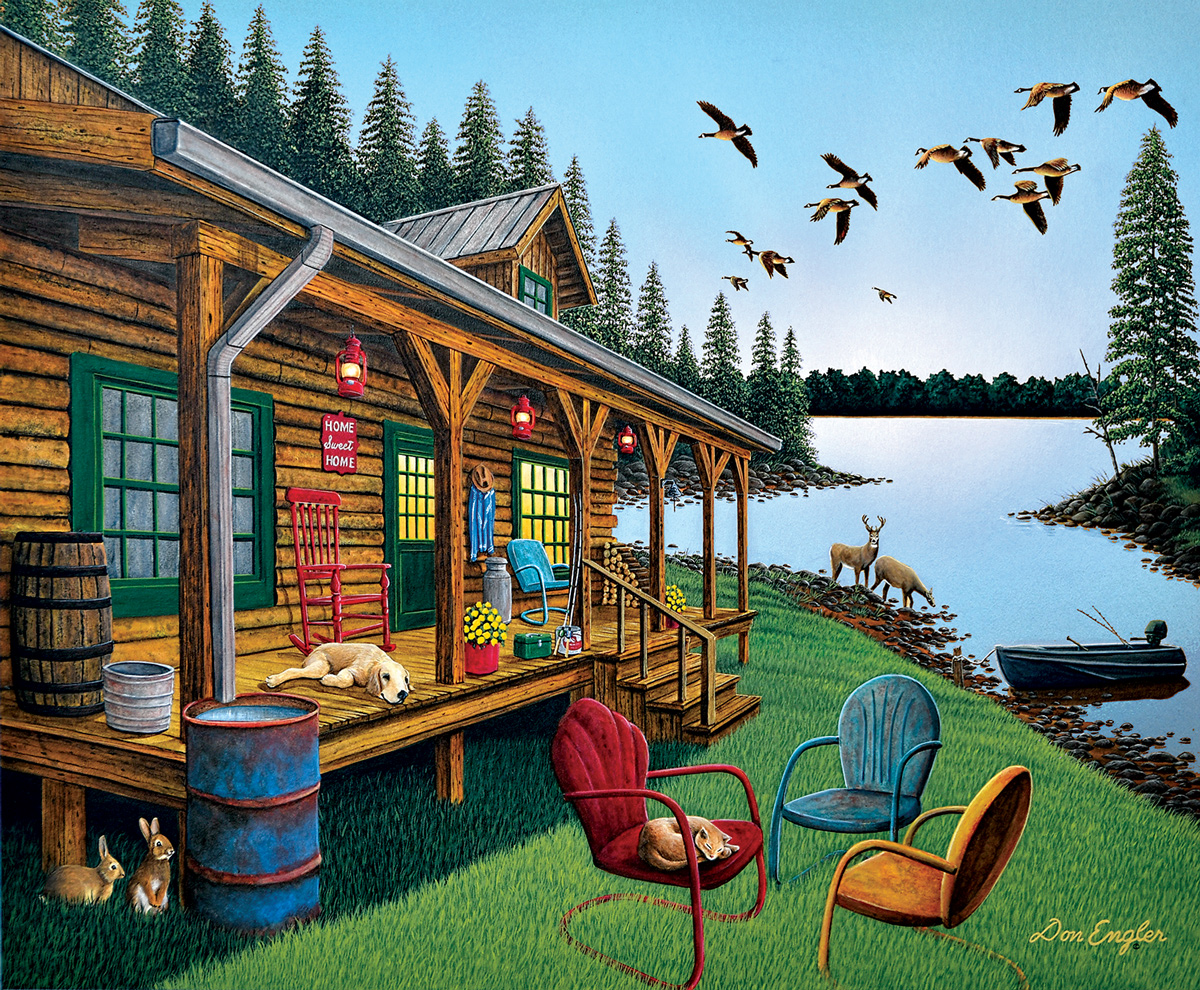 Break of Day Lakes / Rivers / Streams Jigsaw Puzzle