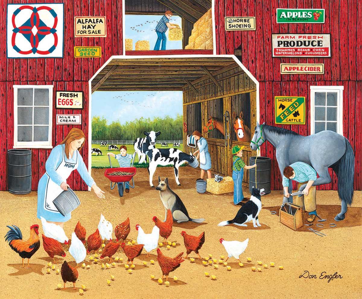 Hay For Sale Farm Jigsaw Puzzle