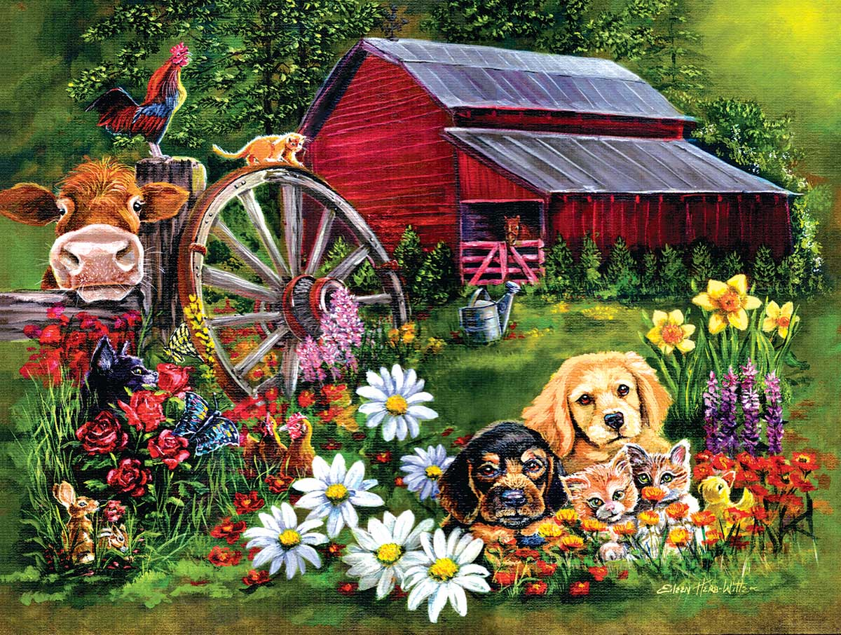 Sweet Country Farm Jigsaw Puzzle