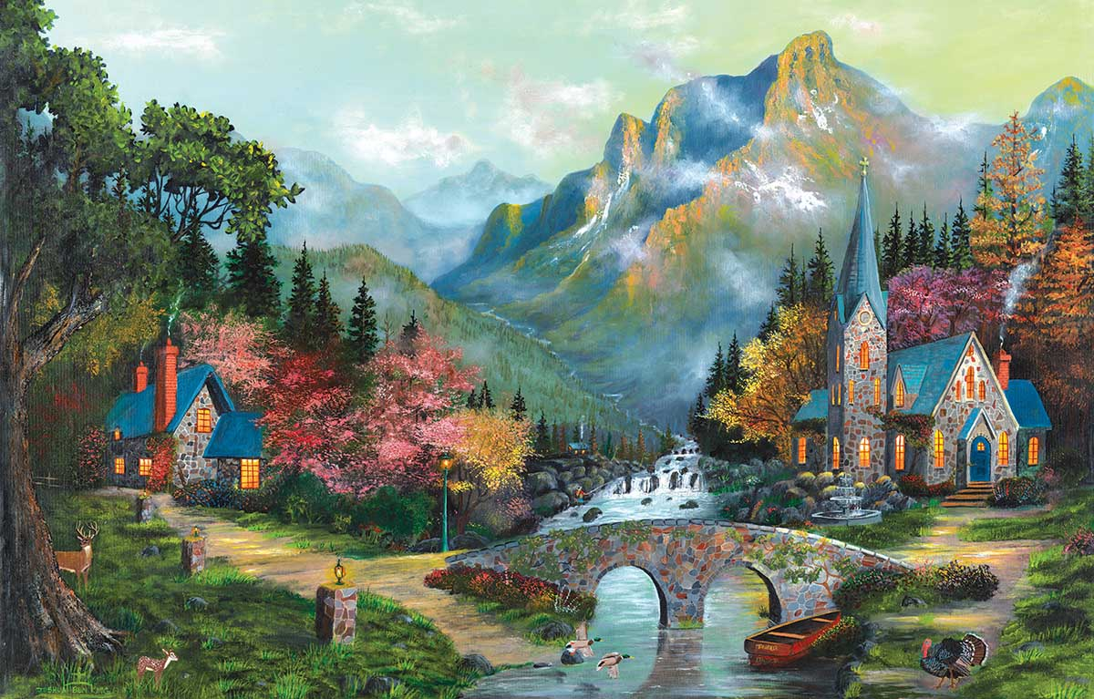 Heaven's Overature Mountains Jigsaw Puzzle