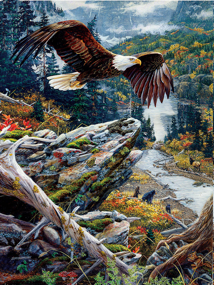 Mountain Flight - Scratch and Dent Eagles Jigsaw Puzzle