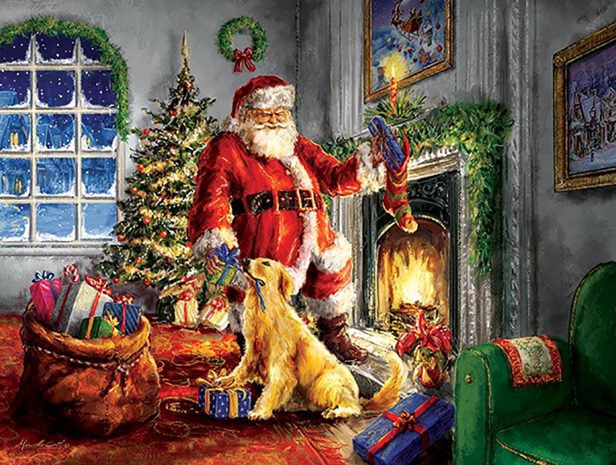 Helping Santa Dogs Jigsaw Puzzle