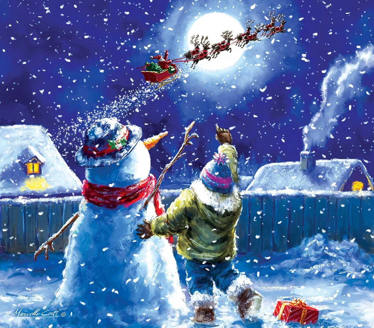 Til Next Year Snowman Jigsaw Puzzle