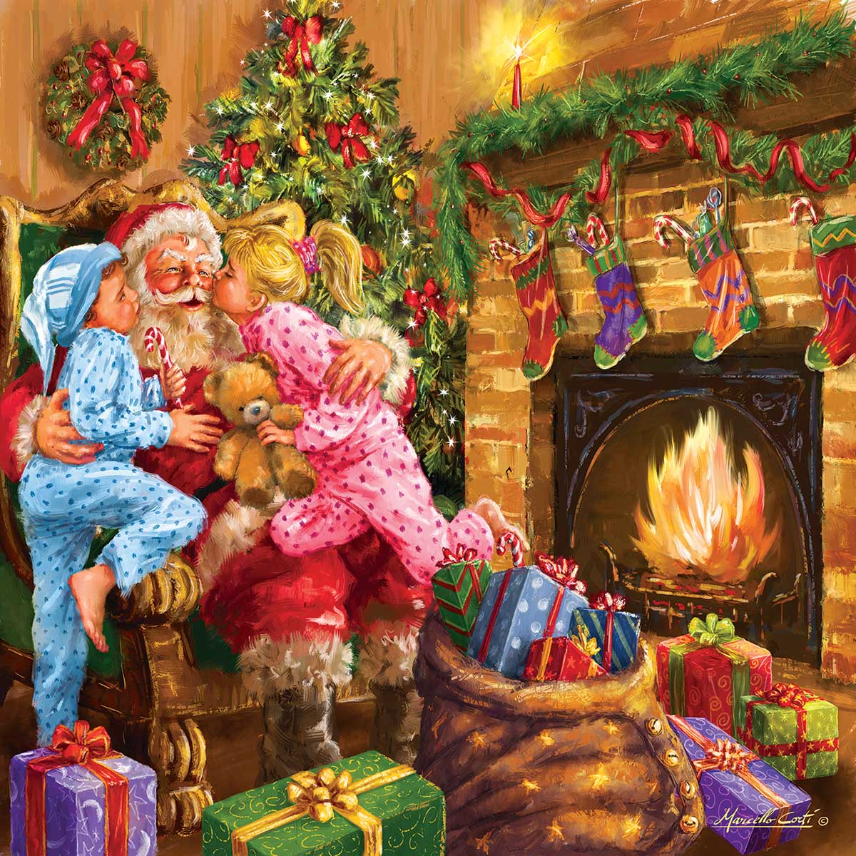 Everyone Loves Santa Christmas Jigsaw Puzzle