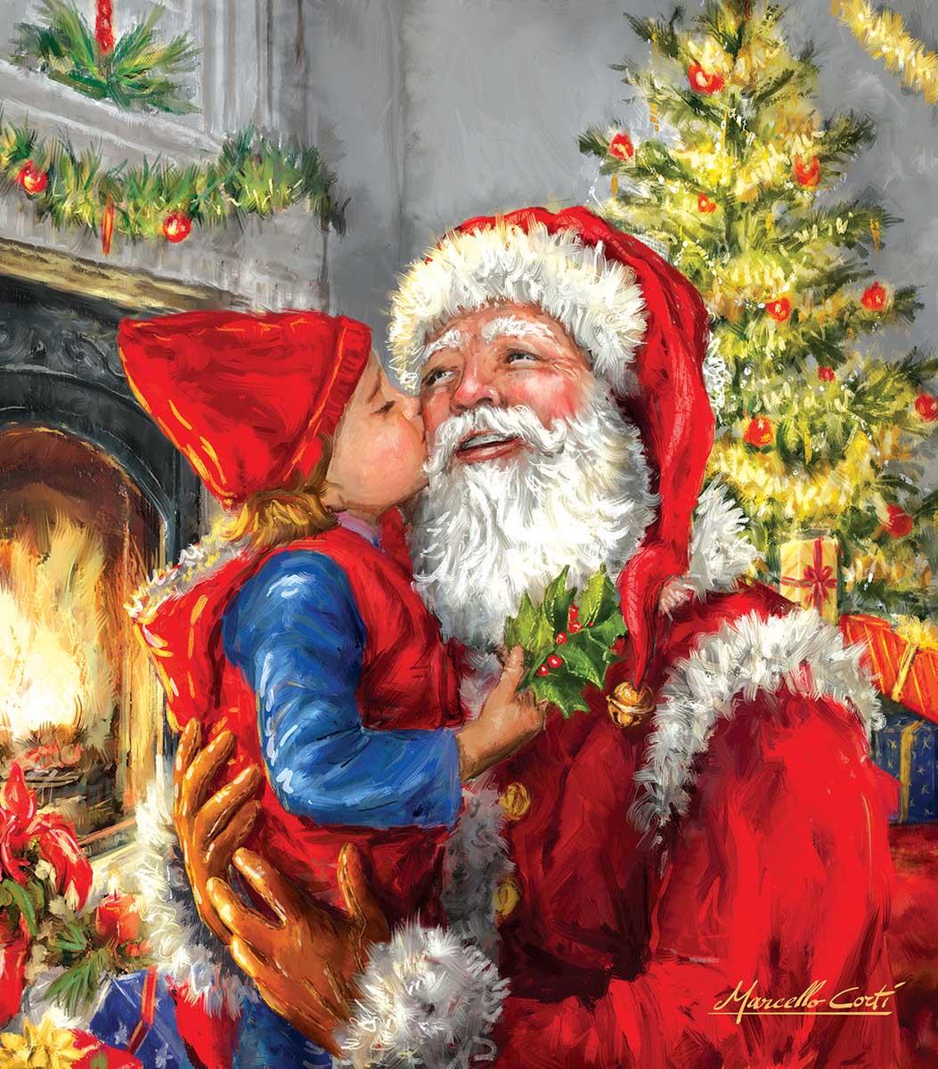 Kissing Santa Santa Jigsaw Puzzle