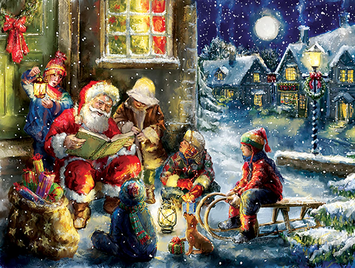 Gather Round Santa Jigsaw Puzzle