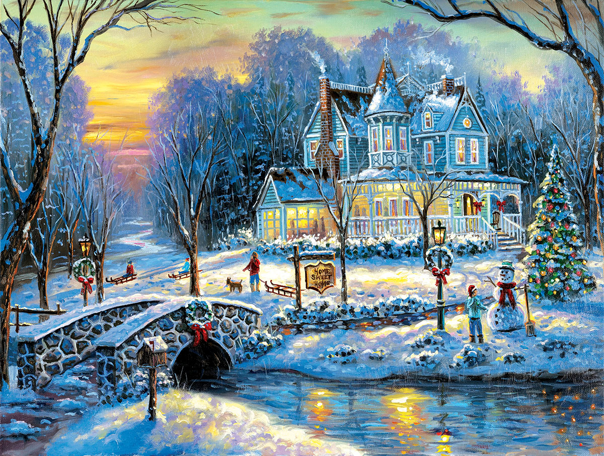 A White Christmas Christmas Jigsaw Puzzle