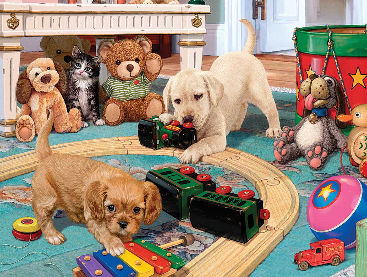 Puppies Playtime Dogs Jigsaw Puzzle