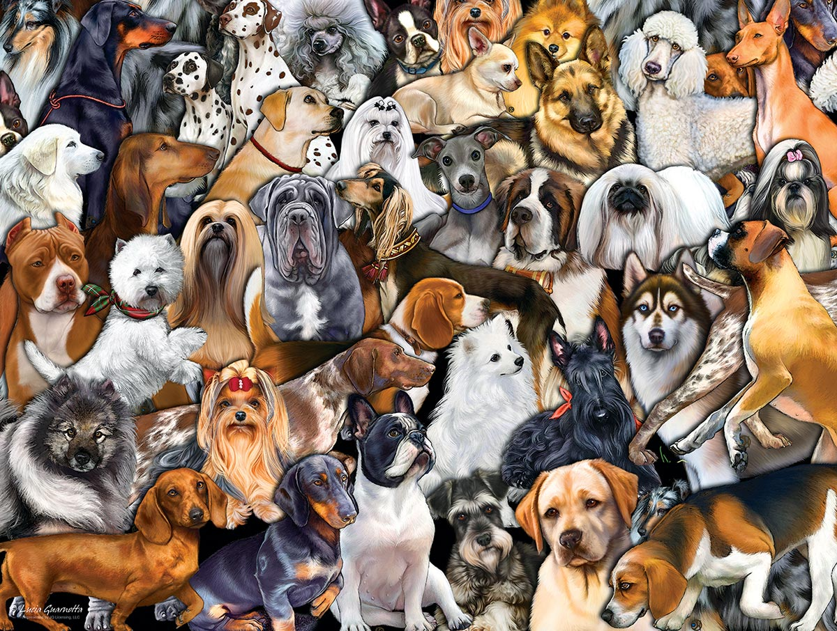 Dog World Dogs Jigsaw Puzzle