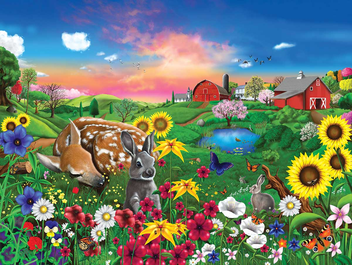 Peaceful Pastures Animals Jigsaw Puzzle