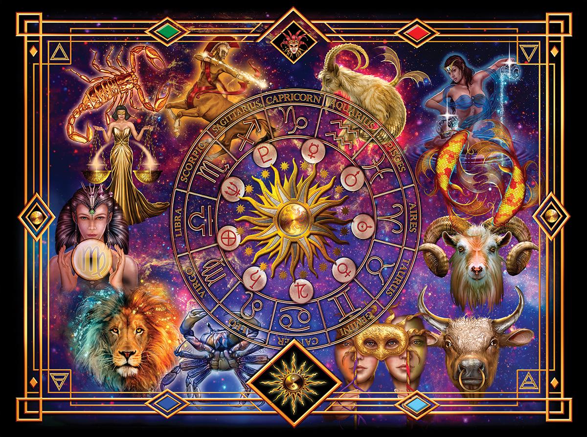Zodiac Montage Space Jigsaw Puzzle