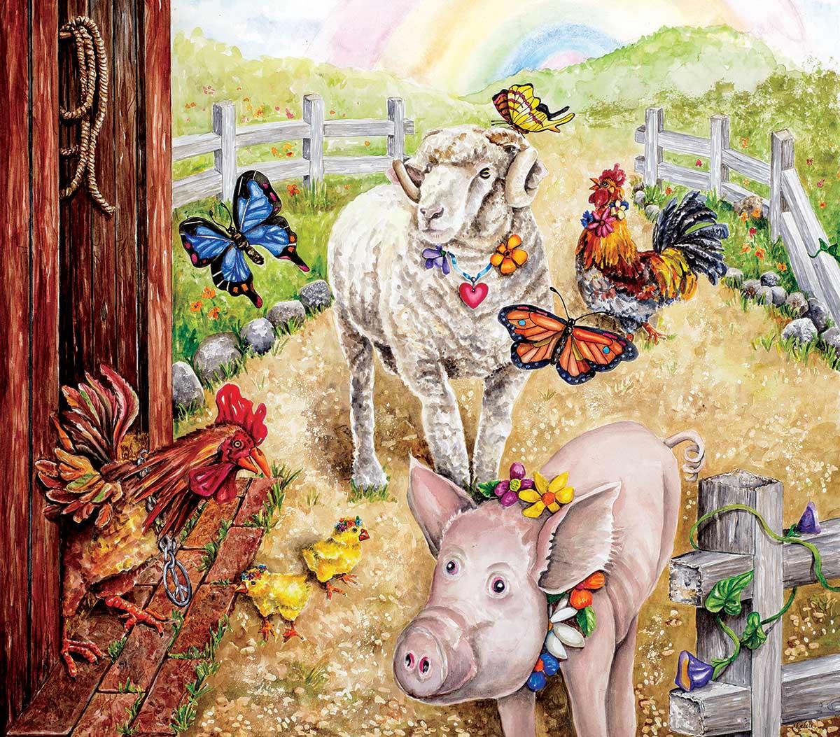 Summer of Love Farm Jigsaw Puzzle