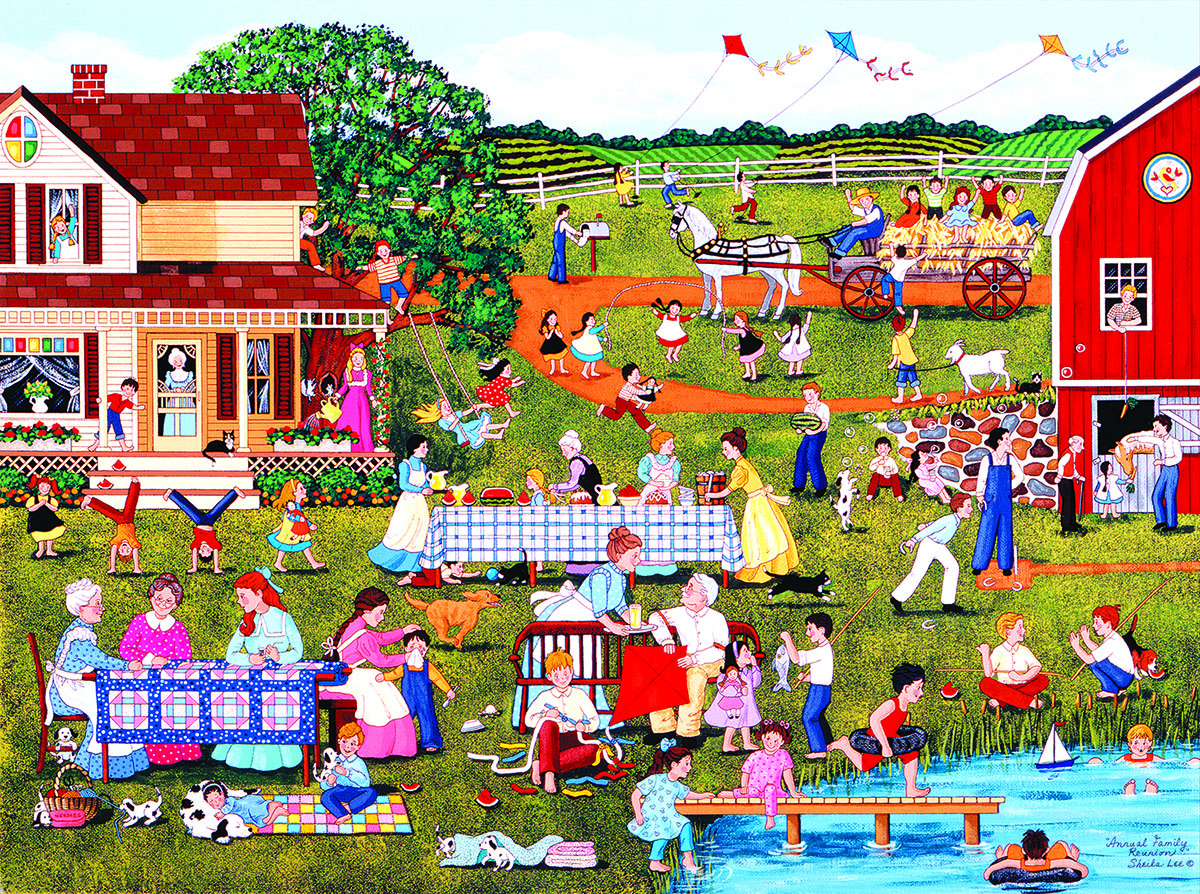 Annual Family Reunion - Scratch and Dent Farm Jigsaw Puzzle