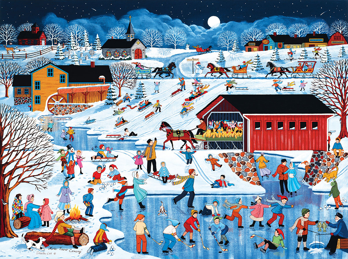 More Snow Coming Jigsaw Puzzle