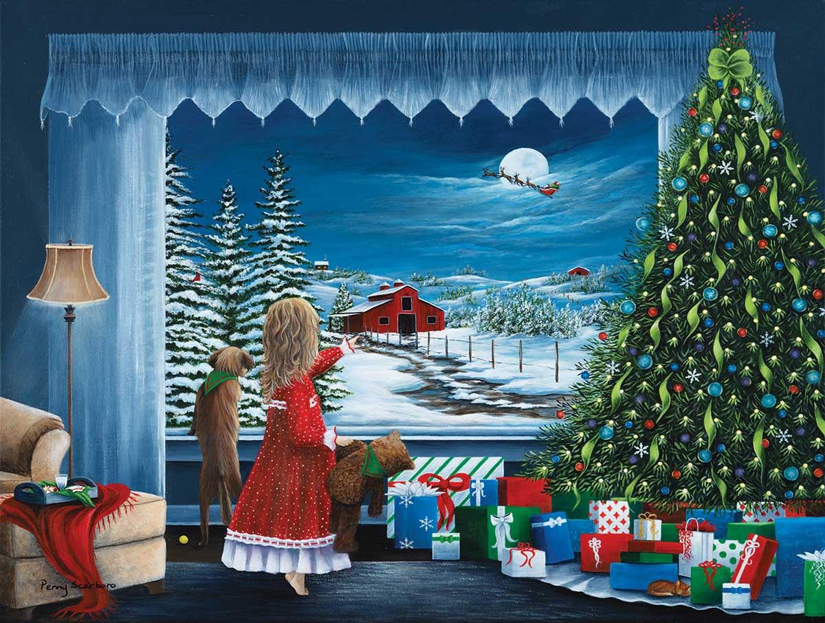 Santa's Coming Santa Jigsaw Puzzle