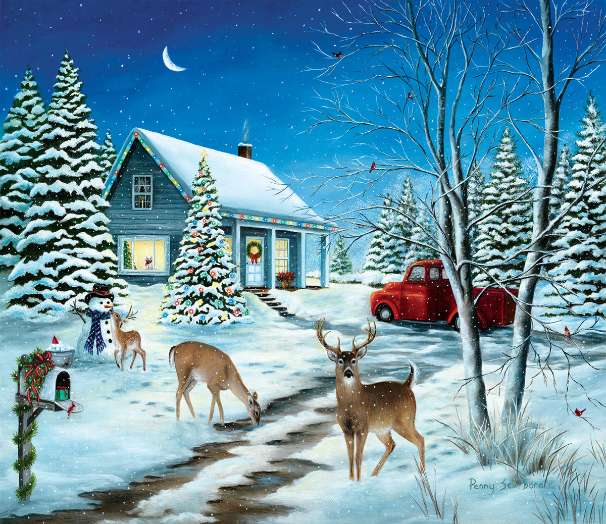 Unexpected Christmas Guests Christmas Jigsaw Puzzle