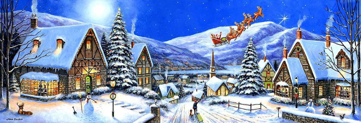 Christmas Town Santa Jigsaw Puzzle