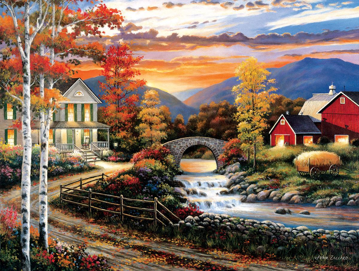 Babbling Creek Road Lakes / Rivers / Streams Jigsaw Puzzle