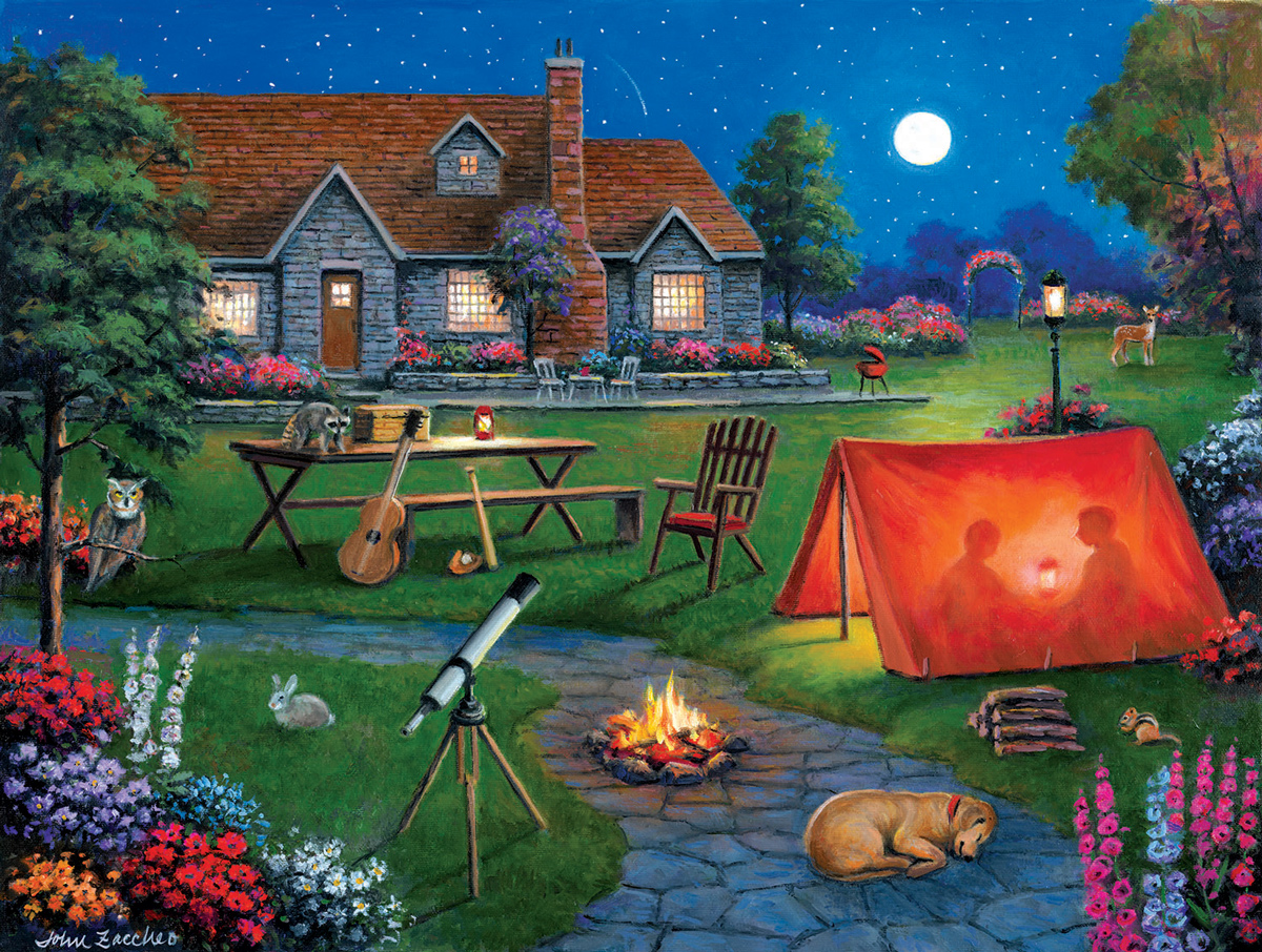 Kids Night Out Outdoors Jigsaw Puzzle