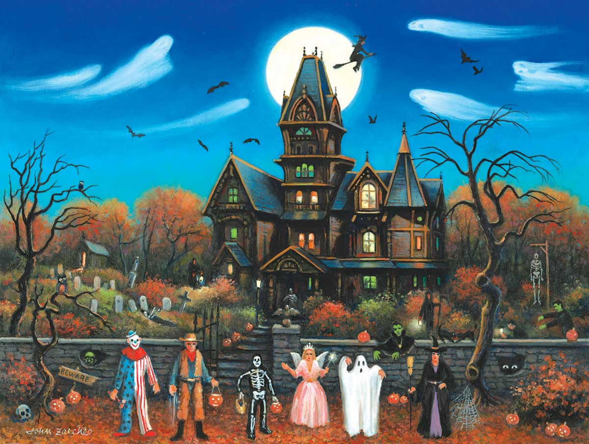 Trick or Treaters Beware Fall Jigsaw Puzzle