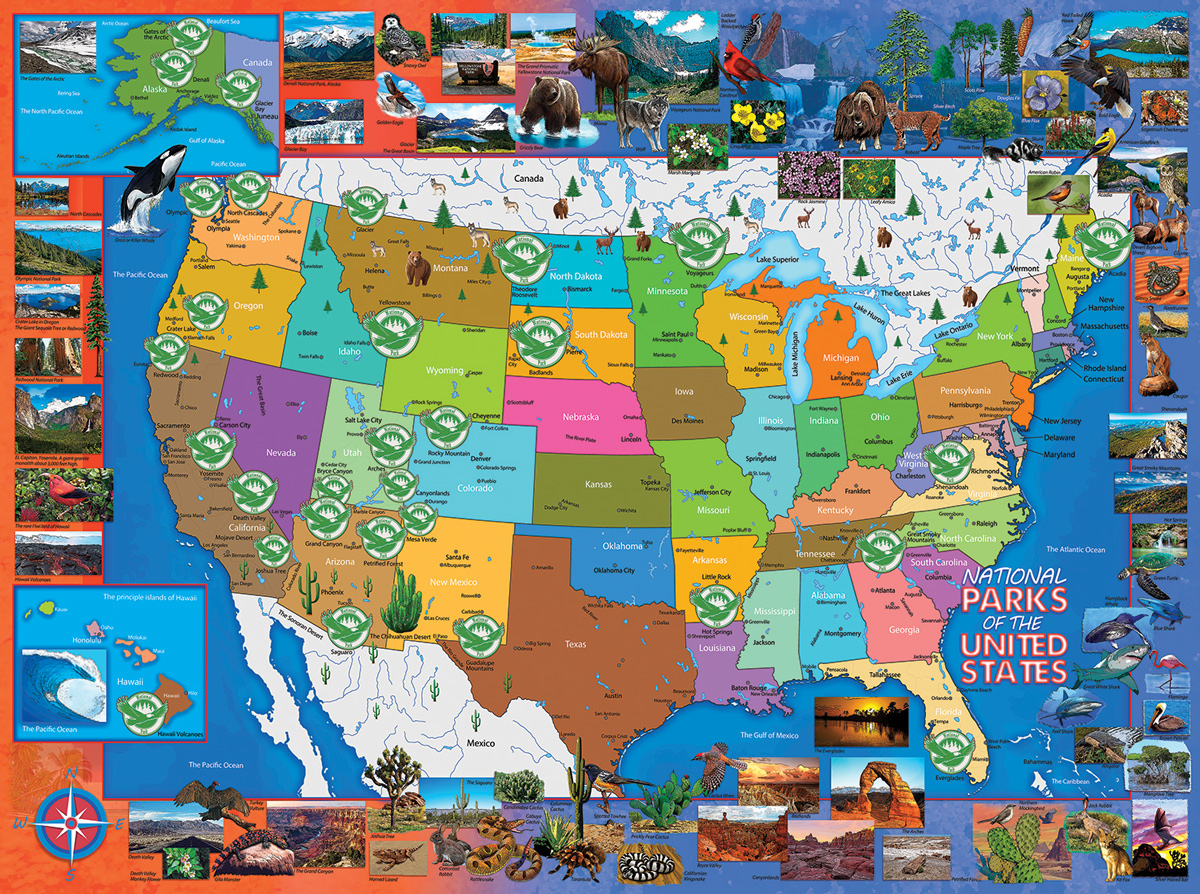 National Parks of the USA Maps / Geography Jigsaw Puzzle