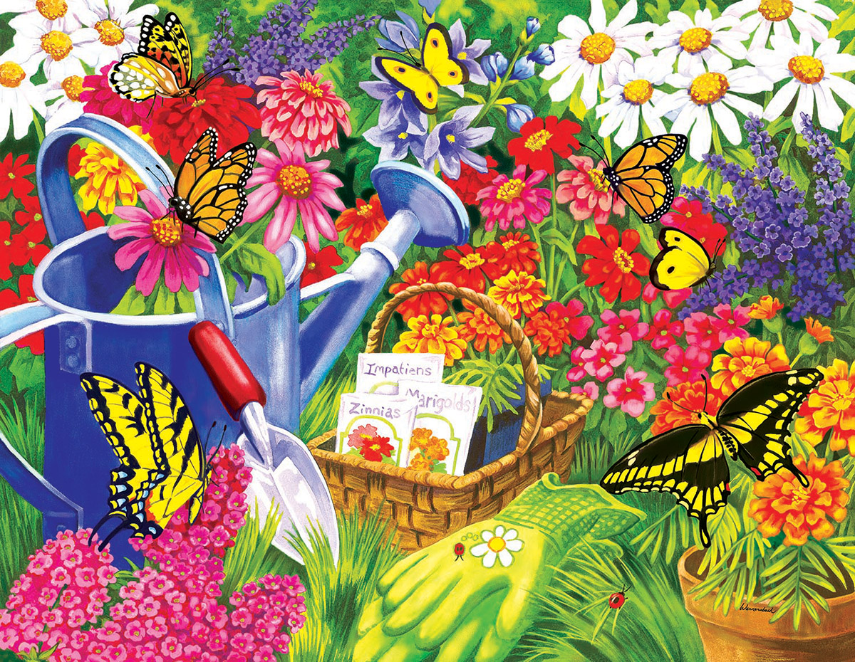 A Home for Butterflies - Scratch and Dent Butterflies and Insects Jigsaw Puzzle