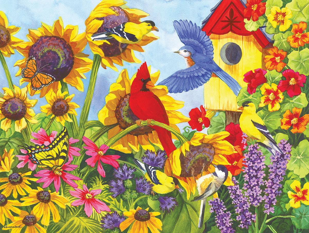 Backyard  Beauties Birds Jigsaw Puzzle