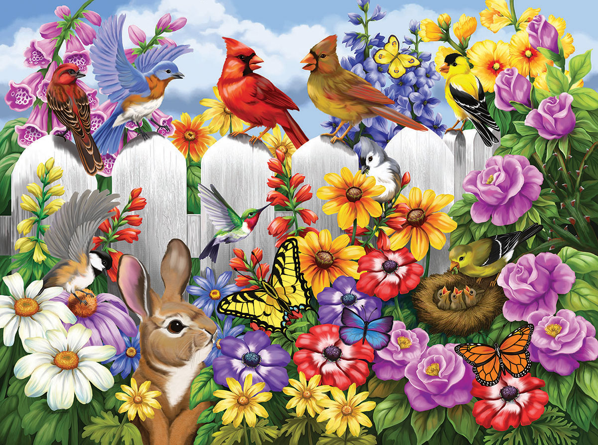 Garden Gossip Garden Jigsaw Puzzle