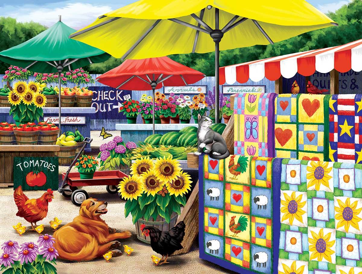 Farm Stand Farm Jigsaw Puzzle
