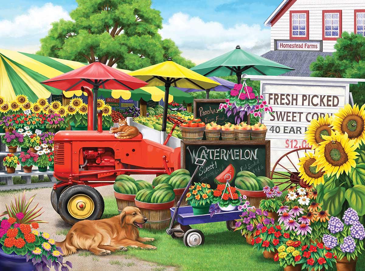 Farm Stand Bounty Farm Jigsaw Puzzle