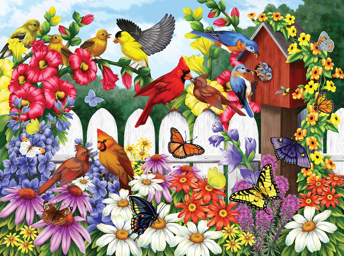 Backyard Babies Birds Jigsaw Puzzle