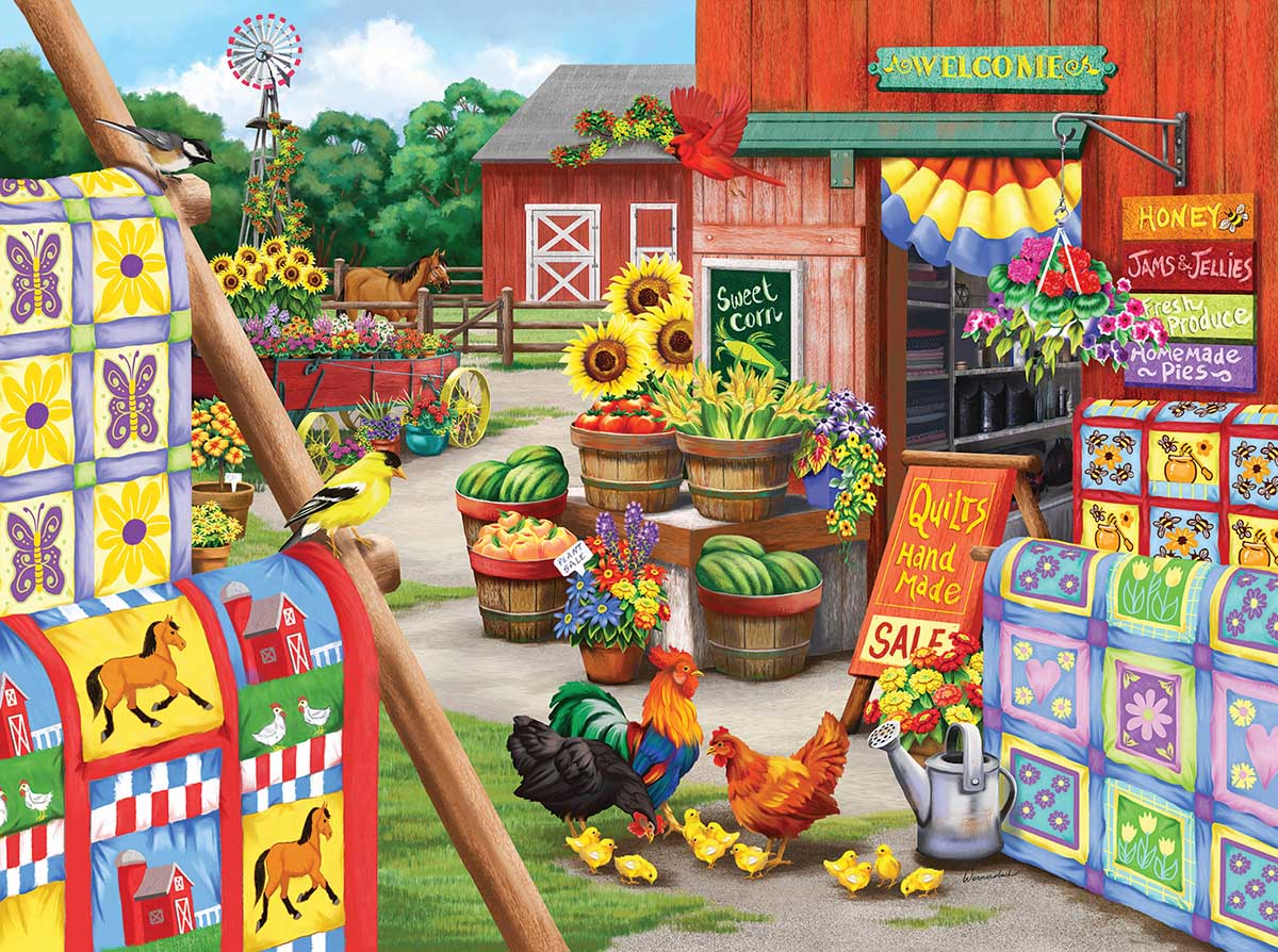 Quilts Farm Jigsaw Puzzle
