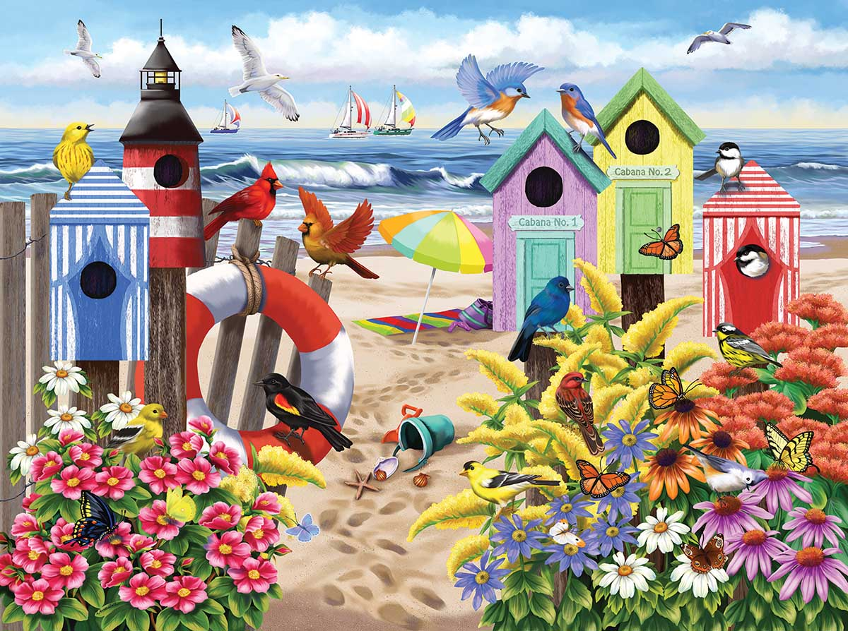 At Home by the Sea Beach Jigsaw Puzzle
