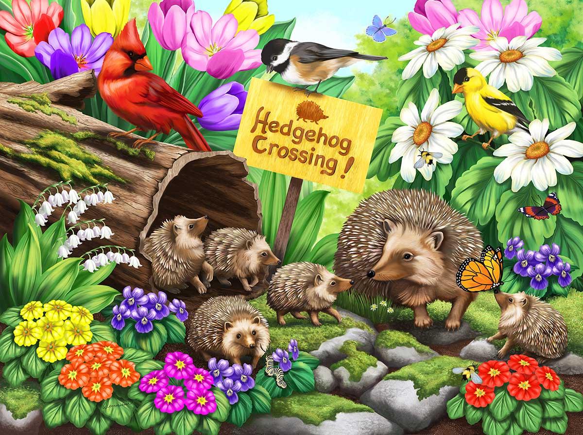 Hedgehog Crossing Animals Jigsaw Puzzle