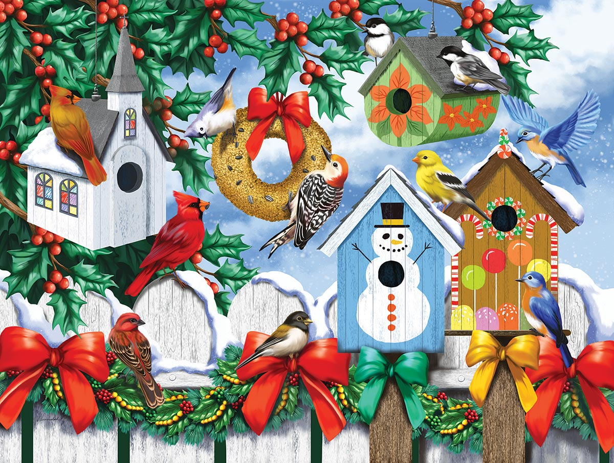 Winter Backyard Birds Jigsaw Puzzle