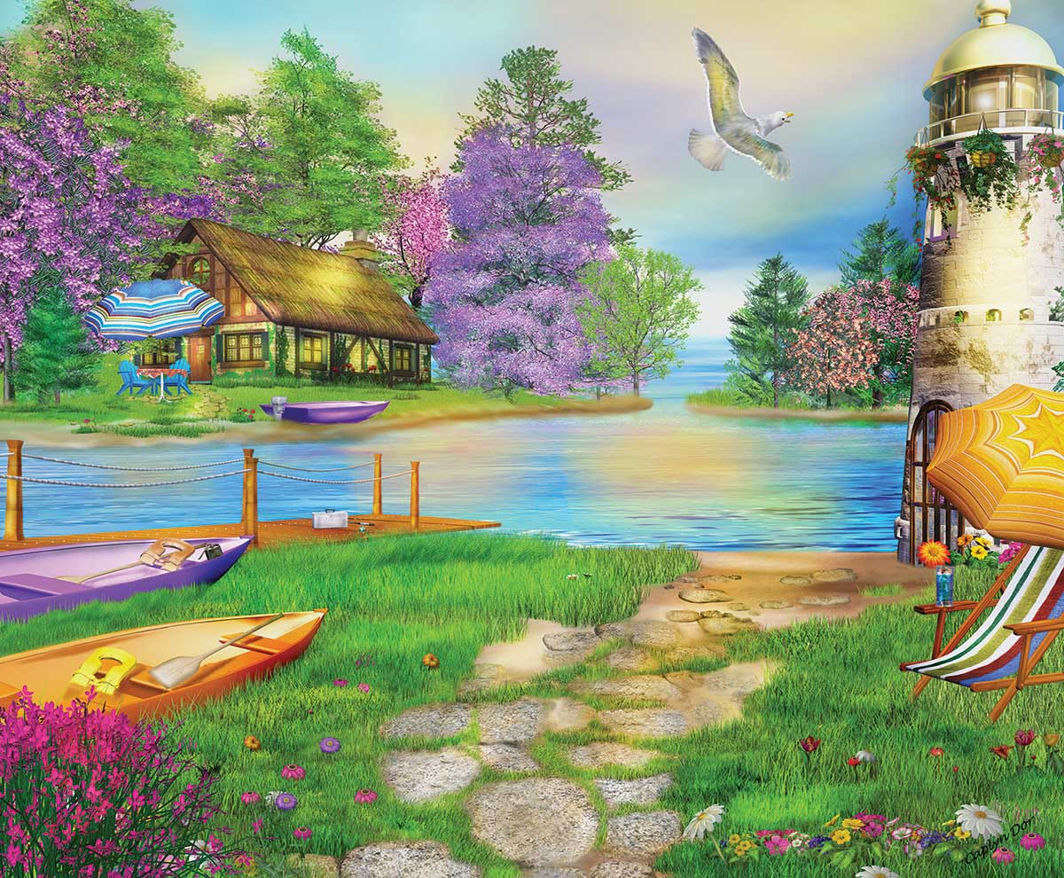 Seagull Bay Lighthouses Jigsaw Puzzle
