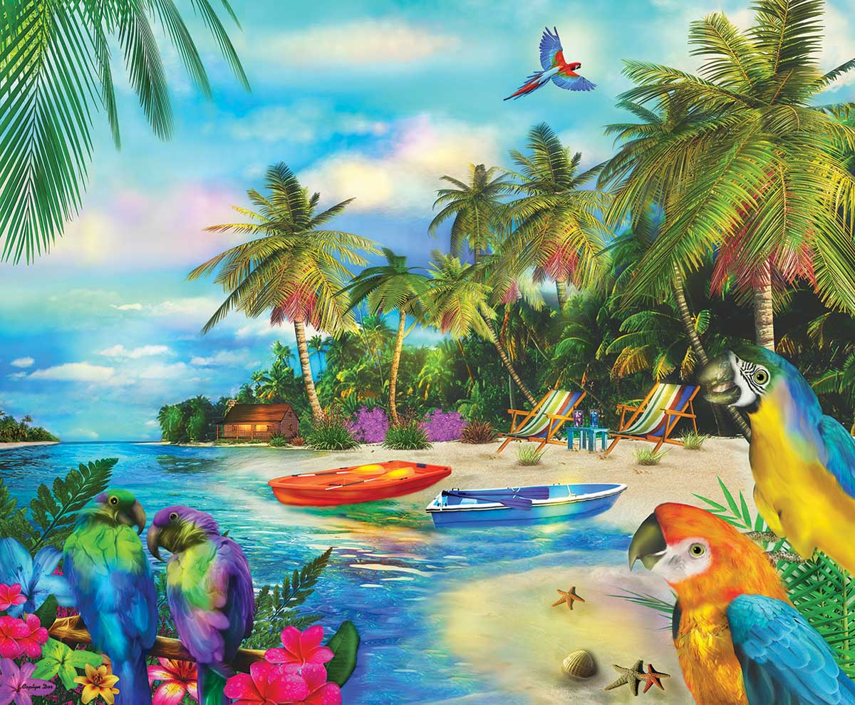 A Moment in Dreams Beach Jigsaw Puzzle